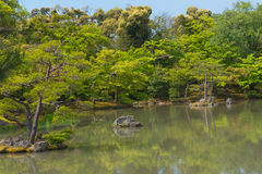 Japanese garden and a lake travel in japan Stock Photo