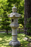 Japanese garden. Landscape with lantern Stock Photos