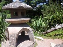 Japanese garden lantern Stock Photo