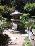 Japanese garden lantern Royalty Free Stock Images
