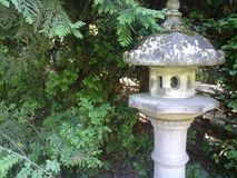 Japanese garden lantern Royalty Free Stock Photos