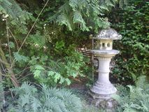 Japanese garden lantern Royalty Free Stock Photo