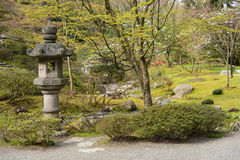 Japanese Garden. Lantern and path in a Japanese Garden Stock Photography