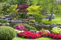 Japanese garden, London. Kyoto garden in Holland park, London, UK stock photos