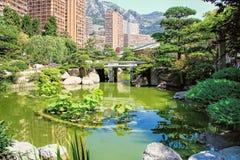 Japanese garden of Monaco Stock Photos