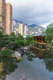 Japanese garden in Monte Carlo Royalty Free Stock Image