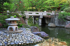 Japanese garden in Monte Carlo Stock Photography