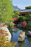 Japanese garden in Monte Carlo Stock Images