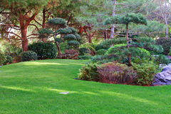 Japanese garden in Monte Carlo Stock Image