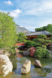 Japanese garden in Monte Carlo Royalty Free Stock Images