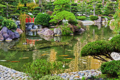 Japanese garden in Monte Carlo Royalty Free Stock Photo