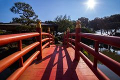 Japanese garden in Monte Carlo Stock Photo