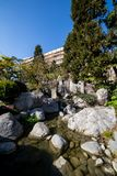 Japanese garden in Monte Carlo, Monaco, France Royalty Free Stock Photo