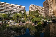 Japanese garden in Monte Carlo, Monaco Royalty Free Stock Photos