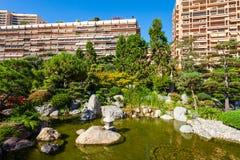 Japanese Garden in Monte Carlo, Monaco. Japanese Garden or Jardin Japonais is a municipal public park in Monte Carlo in Monaco royalty free stock photos