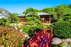 Japanese Garden in Monte Carlo, Monaco. Japanese Garden or Jardin Japonais is a municipal public park in Monte Carlo in Monaco royalty free stock photography