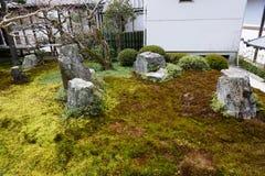 Japanese garden in Nanjenji temple, Kyoto Royalty Free Stock Photography