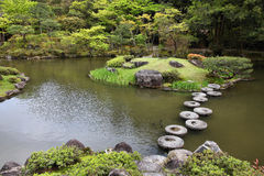 Japanese garden in Nara Royalty Free Stock Photography