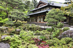 Japanese garden in Nara Stock Photo
