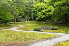 Japanese garden in Nara Stock Photography