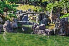 Japanese Garden at Nijo Castle in Kyoto Stock Photos