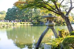 Japanese garden. Outdoor beautiful scenery landscape Stock Image