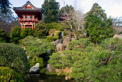 Japanese Garden Pagoda Royalty Free Stock Images