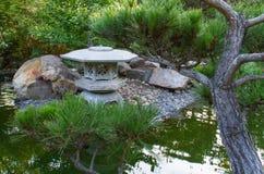 Japanese Garden. A pagoda in a Japanese garden royalty free stock photography