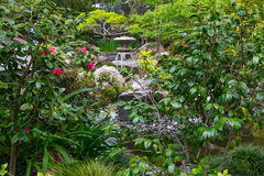 Japanese Garden Pagoda Royalty Free Stock Photography