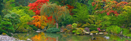 Japanese Garden panoramic view Stock Image