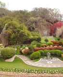 Japanese garden park beautiful tree bonsai romantic nature royalty free stock photos