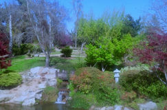 Japanese Garden. The photo was taken at Woodward Park in Fresno, CA. This is the Japanese Garden Stock Photography