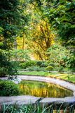 Japanese Garden. With pond Royalty Free Stock Images