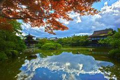 Japanese garden reflection Royalty Free Stock Image
