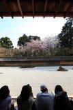 Japanese garden, Ryoan-ji Temple Stock Photo