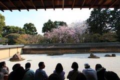 Japanese garden, Ryoan-ji Temple Stock Images