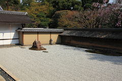 Japanese garden, Ryoan-ji Temple Stock Image
