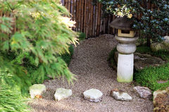 Japanese garden with sand Royalty Free Stock Image