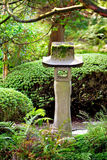 Japanese garden sculpture Stock Photo