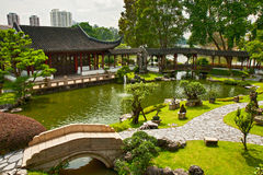 Japanese garden in Singapore Stock Image
