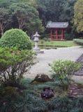 Japanese Garden sleeping Swan. Swan sleeping in a tranquil Japanese Garden, Asia Royalty Free Stock Photography