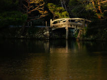 Japanese garden. Small bridge in the Japanese garden Royalty Free Stock Image