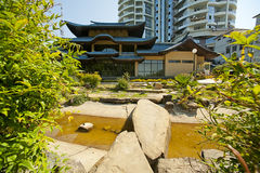 Japanese garden at Sochi, Russia Royalty Free Stock Image