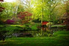 Japanese garden in spring Stock Photo