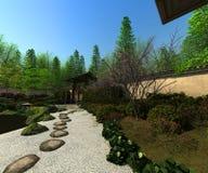 Japanese garden, spring time Stock Photo