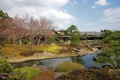 Japanese garden in spring time Stock Photo
