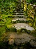 Japanese garden. Stairs Stock Photos