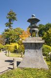 Japanese garden with Stone Lantern Stock Image