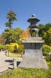 Japanese garden with Stone Lantern. Autumn colors Japanese garden with Stone Lantern Stock Image