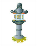 Japanese garden stone lantern. Royalty Free Stock Photo